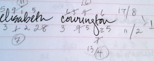 numo notation for elisabeth courington