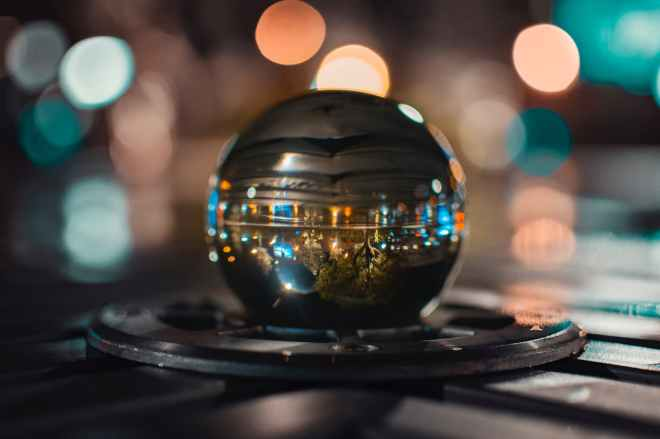 ball ball shaped blur bokeh